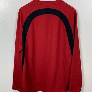 Nike Shirts - Nike Long Sleeve Red Activewear Shirt Medium